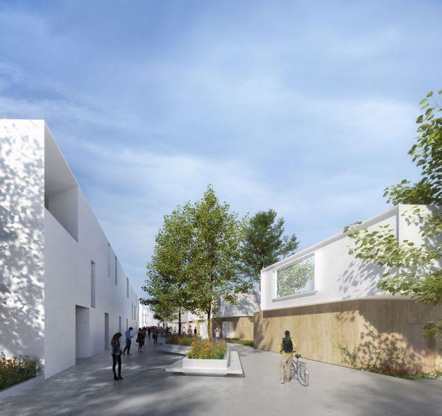 arquitectura campus civitas rafael de la-hoz render calle peatonal paseo