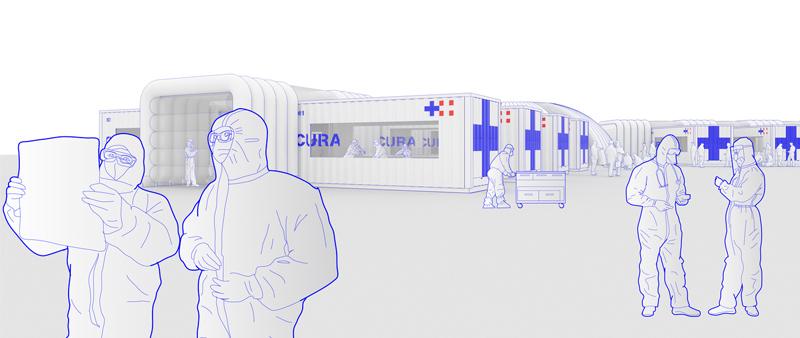 Arquitectura y Empresa, Carlo Ratti Associati, Italo Rota, CURA, COVID-19, hospital de emergencia, contenedor, container, UniCredit Bank, Milán, Italia, diseño, design, internacional, pandemia, crisis sanitaria, arquitectura sanitaria, diseño de código abierto