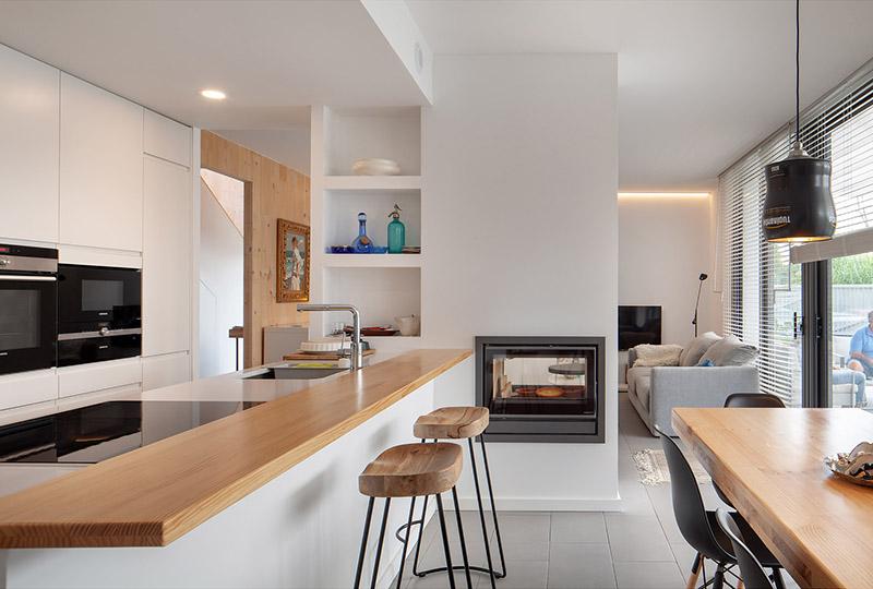 Vista interior de la cocina
