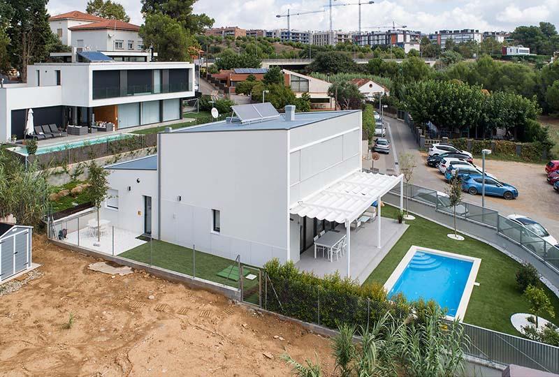 Vista de la fachada exterior de la vivienda