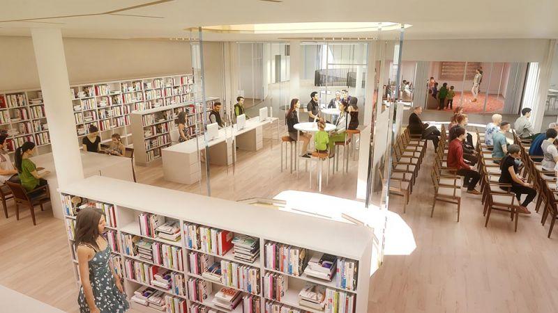 casa_de_la_musica Hungara_ sou_fujimoto_interior biblioteca