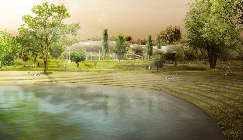 casa_de_la_musica Hungara_ sou_fujimoto_vista del lago