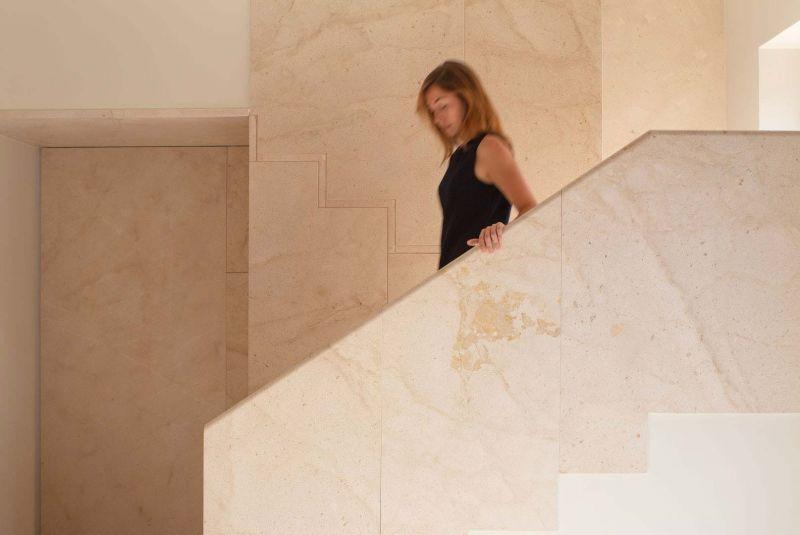 arquitectura casa de los gigantes el cabañal iterare arquitectos foto interior escalera detalle