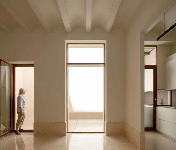 arquitectura casa de los gigantes el cabañal iterare arquitectos foto interior salon cocina