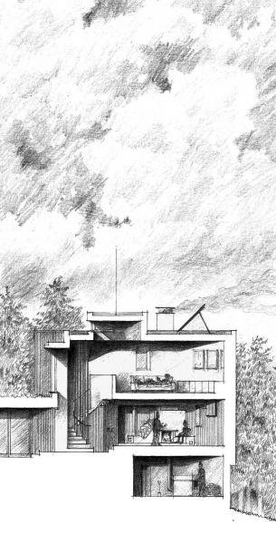 Casa en el  lago de Batak  _Seccion