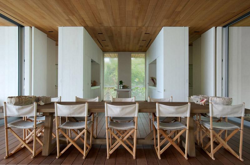 zona de comedor en la Casa en las dunas_ bahamas