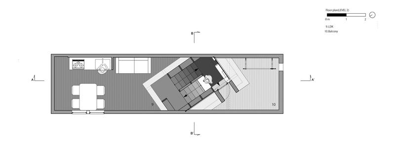 Arquitectura y Empresa, Japón, arquitectura japonesa, vivienda unifamiliar, casa, arquitectura residencial, minimal, minimalista, escalera, madera, parcela estrecha, Toshiyuki Yano, Fujiwaramuro Architects, Osaka
