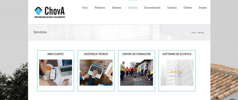 Arquitectura y Empresa, ChovA, servicio postventa, servicio preventa, asesoramiento técnico, impermeabilización, aislamiento, térmico, acústico, construcción, materiales de construcción