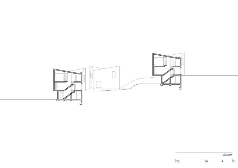 arquitectura y empresa_concrete houses_sección