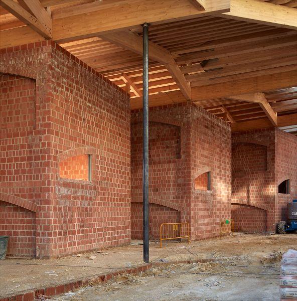 Vista interior muros y cubierta
