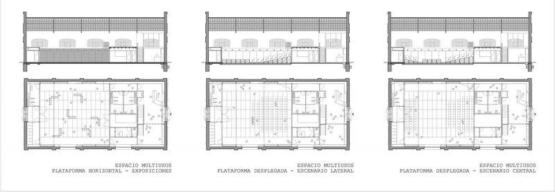 arquitectura nave 3 parque central contell-martinez plano polivalente