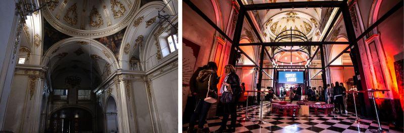 Convent Carmen - Iglesia estado original y actualizado
