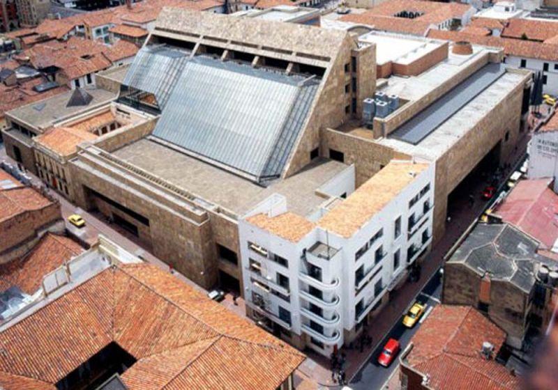 Vista aérea de la Biblioteca Luis Ángel Arango