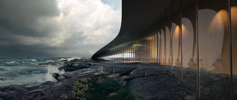Arquitectura y Empresa, The Whale, La ballena, Noruega, Dorte Mandrup, isla Andøya, Andenes, exposición, avistamiento de ballenas, ballena migratoria, mirador, océano, Círculo Polar Ártico, concurso arquitectura internacional