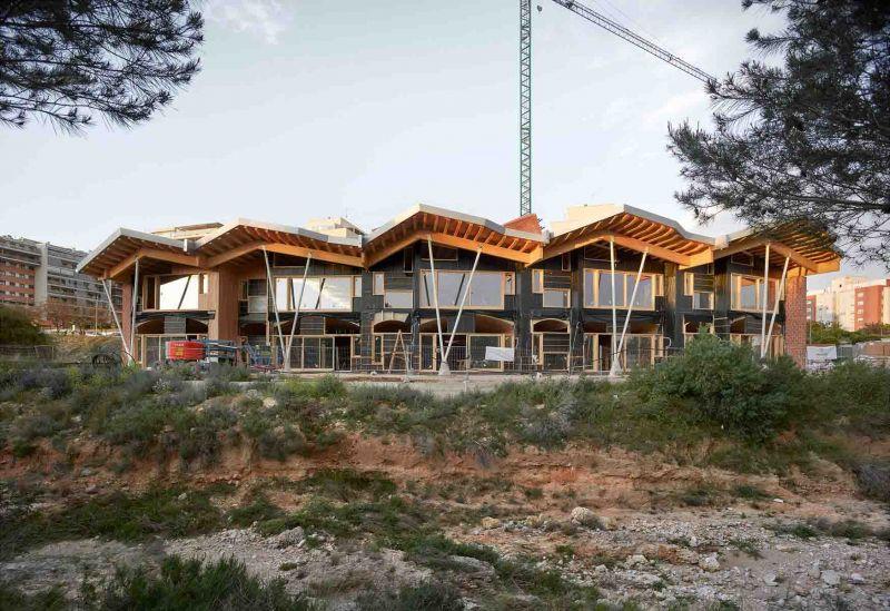 Vista exterior en construcción