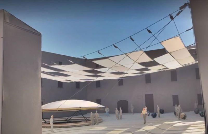 arquitectura andrada estudio parador de turismo del castillo de ibiza patio