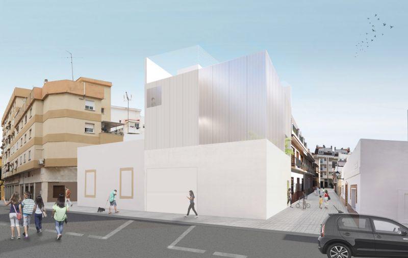 arquitectura casa salamanca OAM arquitectos render exterior esquina