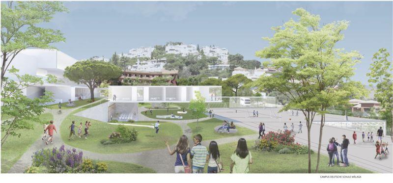 arquitectura oam arquitectos Concurso de Arquitectura de la Deutsche Schule Málaga