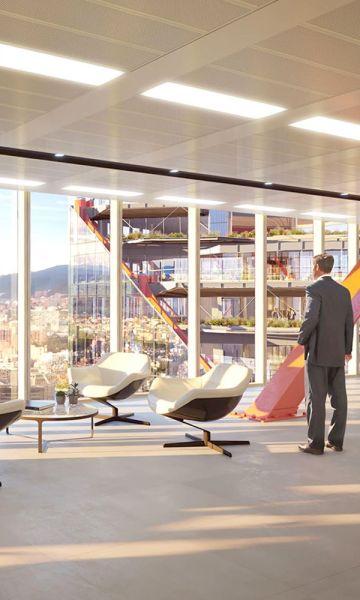 : Render espacio interior del proyecto ATRIO.