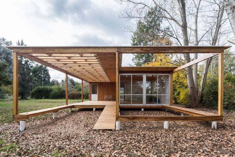 arquitectura casa de madera de Estudio Borrachia