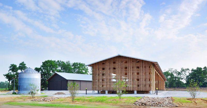arquitectura vistas de los graneros A y B granja Mason Lane