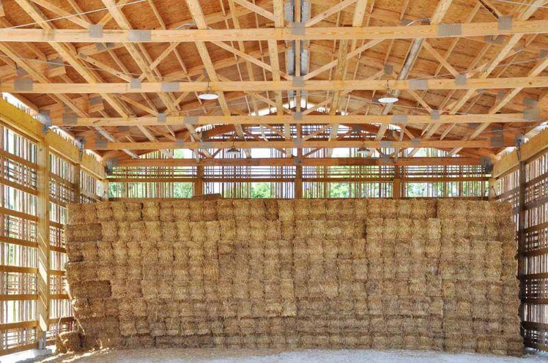 arquitectura espacio para almacenar el heno granja Mason Lane