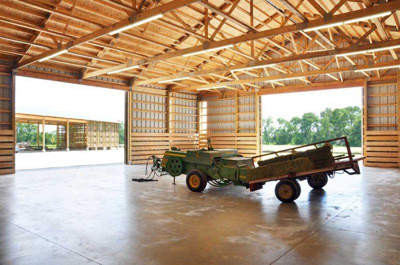 arquitectura espacio para almacenar la maquinaría agrícola granja Mason Lane
