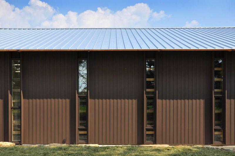 arquitectura granero A revestido de metal corrugado granja Mason Lane