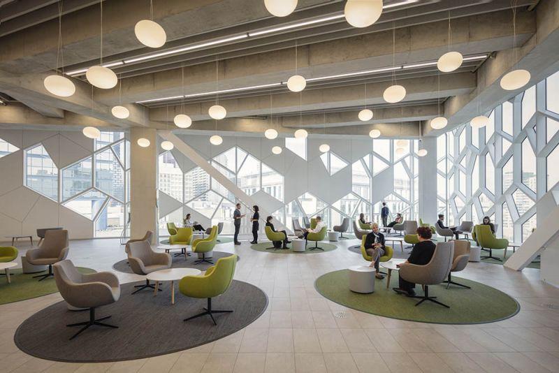 arquitectura iluminación interna y externa biblioteca Calgary