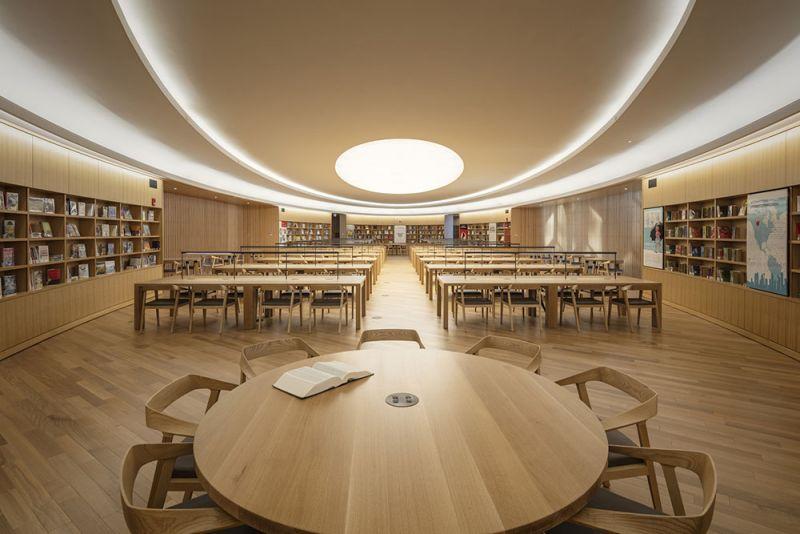 arquitectura gran sala de lectura biblioteca Calgary