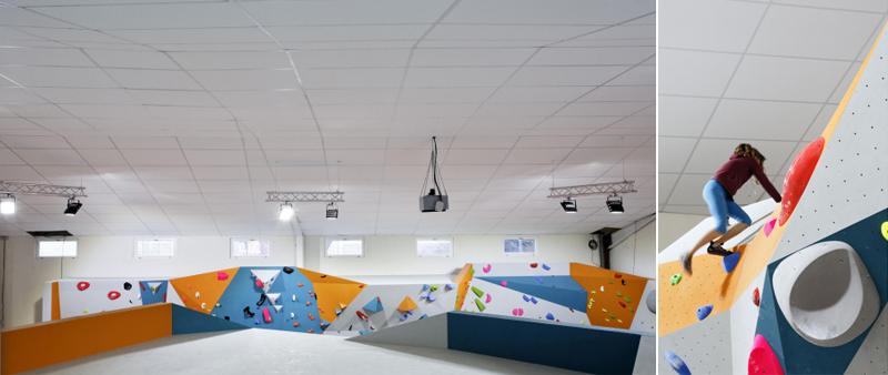 Arquitectura y Empresa, Eurocoustic Saint-Gobain, falso techo, materiales de construcción, acústica, techo suspendido