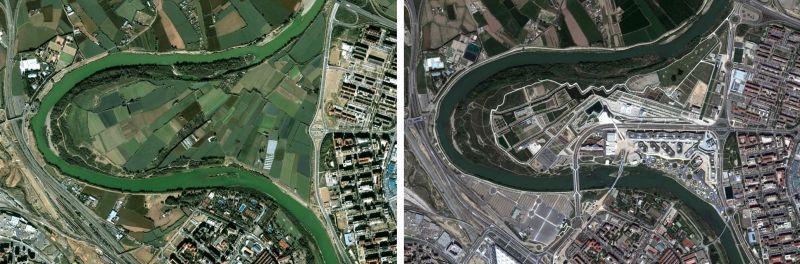 Expo Zaragoza 2008 - Meandro de Ranillas antes y después