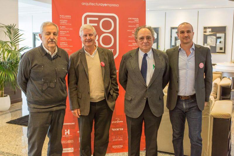 arquitectura y empresa foro contract madrid photocall jose manuel sanz perretta rubio carvajal