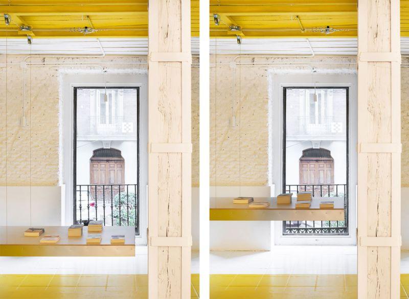 arquitectura FRPO Rodriguez & Oriol Espacio Encuentro fotografia interior estante movil