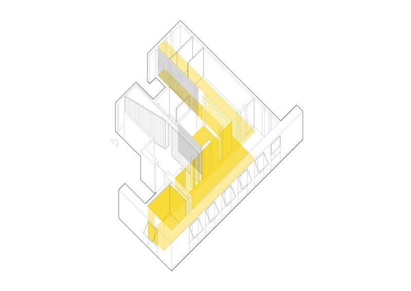 arquitectura FRPO Rodriguez & Oriol Espacio Encuentro axonometria