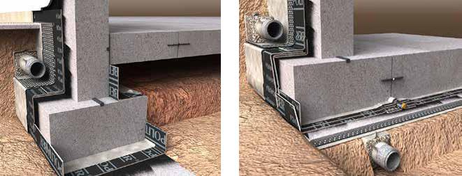ARQUITECTURA chova colocacion membrana anti radon