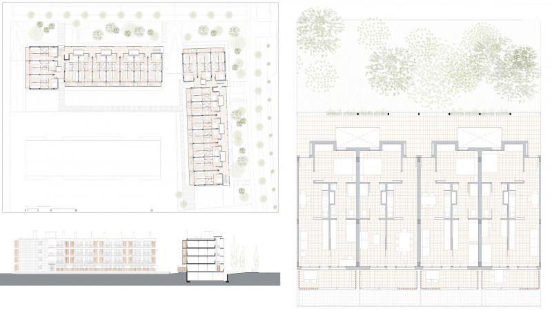 80 viviendas VPO Toni Gironès - Planos