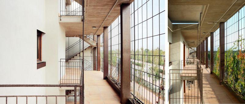 80 viviendas VPO Toni Gironès - Galerías de circulación