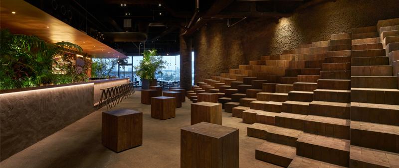 arquitectura y empresa, Atelier Tsuyoshi Tane Architects, ATTA, Japón, arquitectura japonesa, restaurante, espacio polivalente, espacio eventos, Tokio, Daici Ano, GYRE, GYRE.FOOD, Ryoma Shida, sostenibilidad, clima, sostenible