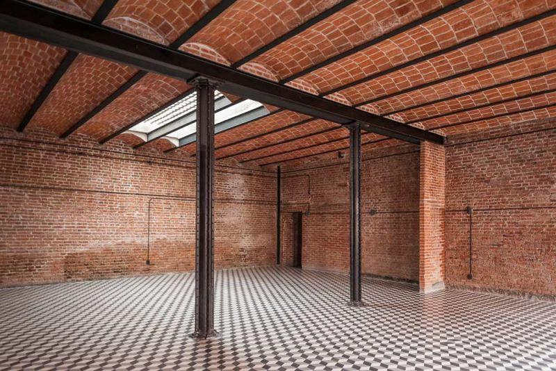 arquitectura interior área común Conjunto Habitacional María Ribera