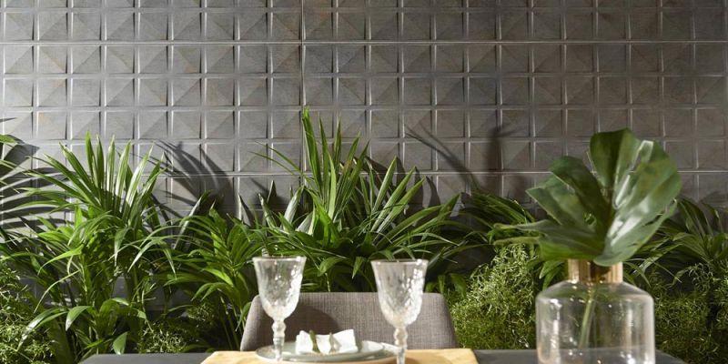 arquitectura keraben grupo cevisama 2020 ceramica de muro vegetacion