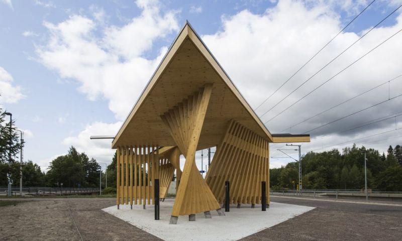 Imagen exterior de la estación de tren Kohta