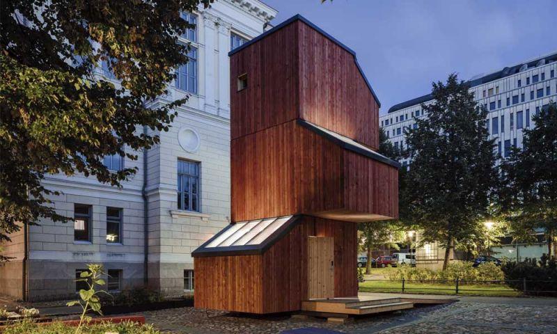 Imagen exterior del módulo habitacional Kokoon