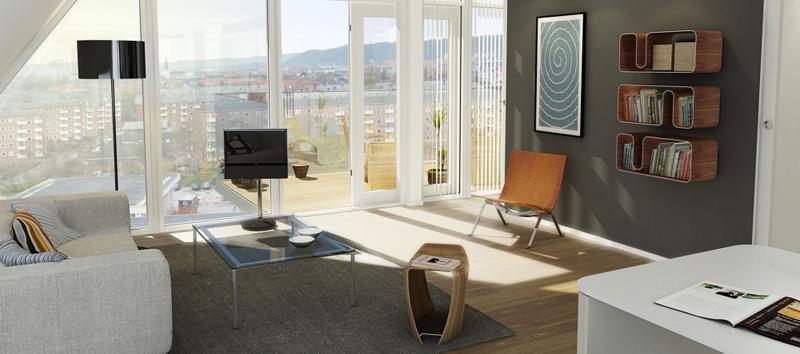 la ola _henning-larsen-architects- diseño  mobiliario danes en el interior