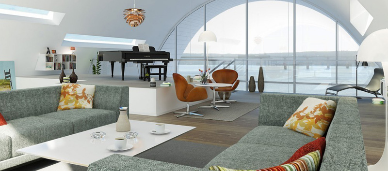 la ola _henning-larsen-architects_ vista interior de salon