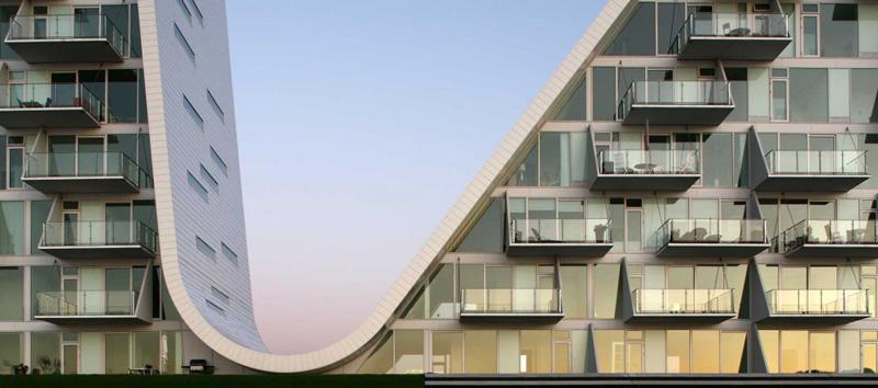 la ola _henning-larsen-architects_detalle de balcones acristalados
