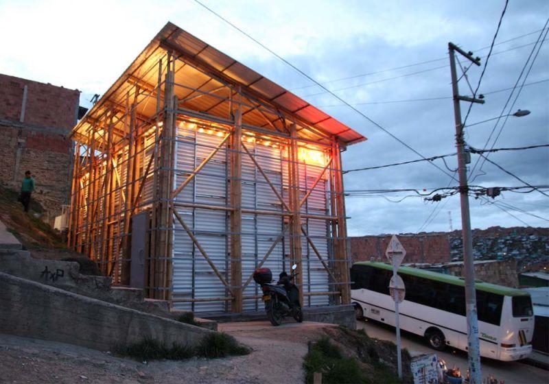 La Potocine de Arquitectura Expandida. Barrio popular de Bogotá