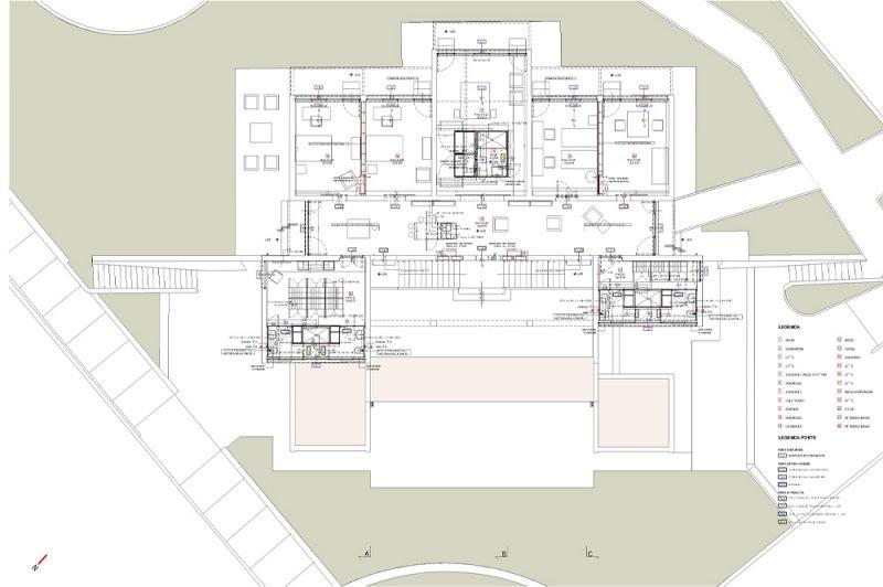 Dibujo de la planta primera del edificio