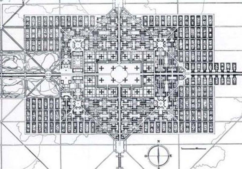 Planimetría ciudad contemporánea de Le Corbusier