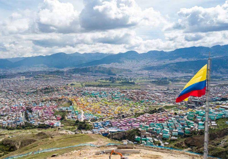 Vista aérea de la localidad Ciudad Bolívar